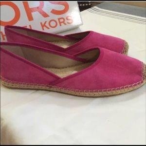 Michael Kors hot pink espadrilles 9.5